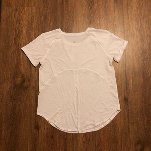 Lululemon White Short Sleeve Open Back: Size 4